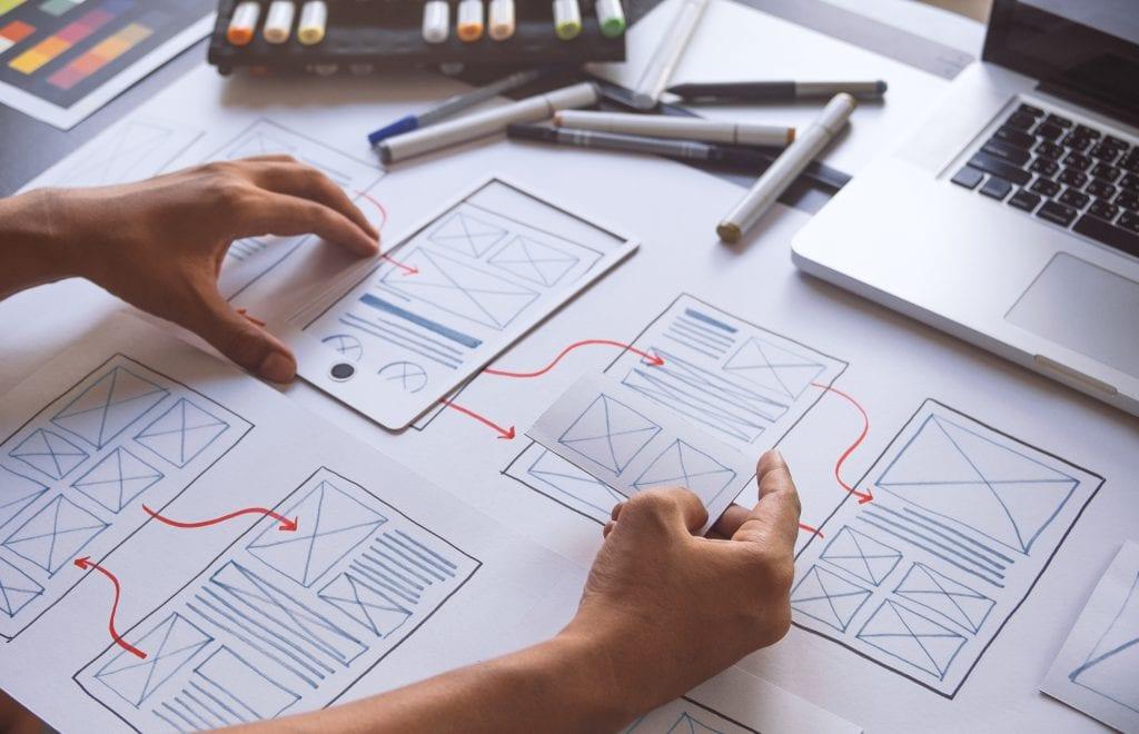UX Designer planning sketch