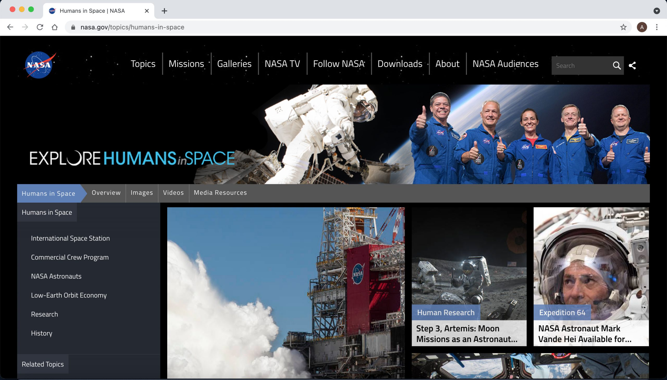 Nasa-Drupal-website-example