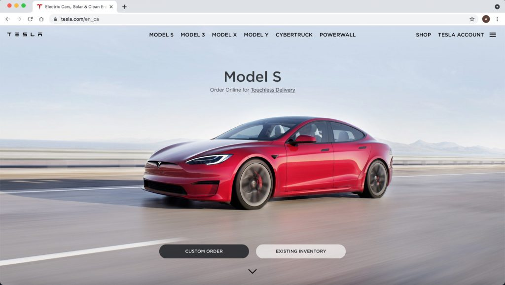 Example-of-drupal-website-Tesla
